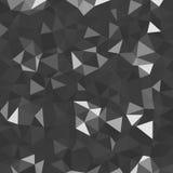 Kalejdoskopisk låg poly mosaik för triangelstilvektor Royaltyfria Bilder