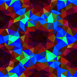 Kalejdoskopisk låg poly mosaik för triangelstilvektor Arkivfoto