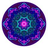 Kalejdoskopisk mandalaprydnad Royaltyfri Bild