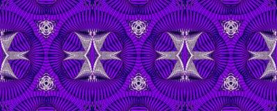 Kalejdoskopisk purpurfärgad sömlös modell Royaltyfri Foto
