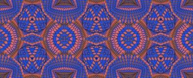 Kalejdoskopisk röd och blå sömlös modell Royaltyfria Bilder