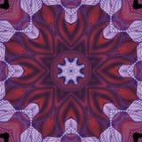 Kalejdoskopisk röd och lila sömlös modell Royaltyfria Bilder