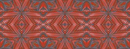 Kalejdoskopisk röd sömlös modell Royaltyfria Foton