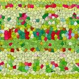 Kalejdoskopisk sömlös frambragd hyratextur för Glass mosaik Arkivfoto