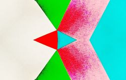 Kalejdoskopowa ilustracja barwiony papieru rocznik ilustracji