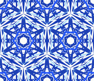 Kalejdoskopowy Deseniowy Błękitnej gwiazdy kwiat Obraz Stock