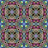 Kalejdoskopowy kwiatu parka tło Splited kolorowy obrazek w płytki ilustracja wektor