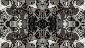 Kalejdoskopowy metal abstrakcjonistycznej sztuki projekt ilustracja wektor
