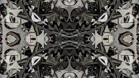 Kalejdoskopowy metal abstrakcjonistycznej sztuki projekt ilustracji