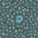 Kalejdoskopowy ornamentacyjny deseniowy imitaci błękita marmur Obrazy Stock