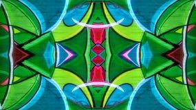 Kalejdoskopowy skutek kolorowy graffiti royalty ilustracja