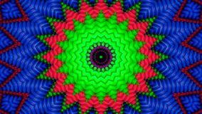 Kalejdoskopowy skutek zielone drymby ilustracji