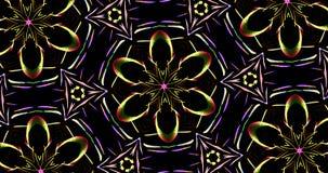 Kalejdoskopowy wzór Na Ciemnym tle W Wibrujących kolorach ilustracji