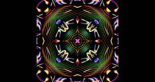 Kalejdoskopowy wzór Na Ciemnym tle W Wibrujących kolorach royalty ilustracja