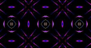 Kalejdoskopowy wzór Na Ciemnym tle W Wibrujących kolorach Obraz Stock