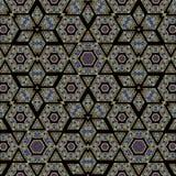 Kalejdoskopu geometryczny wzór na ciemnym tle obrazy stock