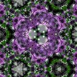 Kalejdoskopu Mehndi styl z okręgu fiołkowym kwiecistym fractal Obrazy Royalty Free