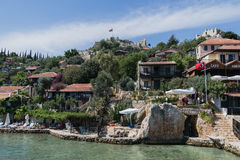 Kalekoy Simena settlement in Uchagiz bay of Turkey Stock Photo