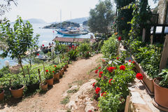 Kalekoy Simena settlement in Uchagiz bay of Turkey Royalty Free Stock Image