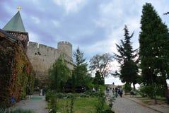 Kalemegdan公园,贝尔格莱德,塞尔维亚在11月上旬 免版税图库摄影