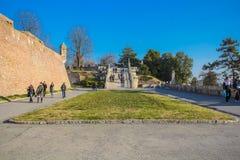 Kalemegdan堡垒庭院在贝尔格莱德,塞尔维亚 免版税库存图片