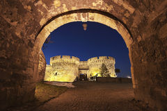 Kalemegdan堡垒贝尔格莱德,塞尔维亚 免版税库存照片