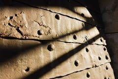 Kalemegdan堡垒门门在晴朗的早晨构造细节在贝尔格莱德 免版税库存照片