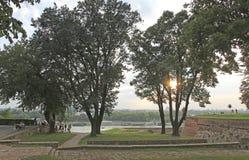 Kalemegdan堡垒,贝尔格莱德,塞尔维亚 免版税图库摄影