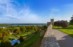 Kalemegdan and Belgrade panorama Royalty Free Stock Images