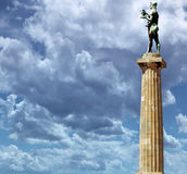 Kalemegdan Belgrade Serbia. Victor monument at Kalemegdan fortress in Belgrade, Serbia Royalty Free Stock Photography