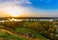 Kalemegdan fästning Beograd - Serbien arkivfoton