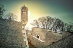 Kalemegdan fästning i Belgrade Serbien arkivfoto