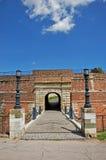 Kalemegdan fästningport royaltyfri foto