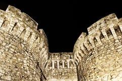 Kalemegdan Festungskontrolltürme Stockbilder