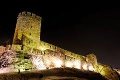 Kalemegdan Festungskontrollturm nachts Stockfoto