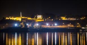 Kalemegdan fort och flod Sava i Belgrade Arkivfoton