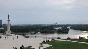 Belgrade capital city of Serbia stock footage