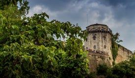 Kalemegdan fortres i Belgrade med dramatiska moln Royaltyfri Foto