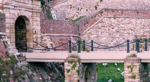 Kalemegdan fortress. Architecture details of Kalemegdan fortress in Belgrade, King Gate Stock Photo
