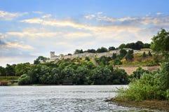 Kalemegdan fortress in Belgrade. Seen from Danube river Stock Image