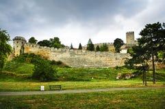 Kalemegdan fortress in Belgrade. With walking path Stock Photos