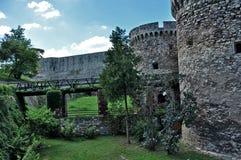 Kalemegdan fortress in Belgrade. View at the bridge, Serbia Stock Image