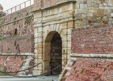 Kalemegdan fortress. Bridge and pass through the walls of Kalemegdan Royalty Free Stock Photo