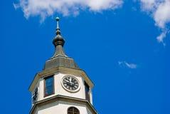 Kalemegdan Fortress clock tower, Belgrade. Serbia stock images