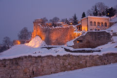 Kalemegdan fortress at dusk Stock Images