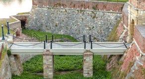 Kalemegdan fortress. Enterance, river Danube Belgrade, Serbia Stock Images