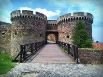 Kalemegdan fortress gate. Kalemegdan fortress Zindan gate in Belgrade serbia Royalty Free Stock Photos