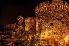 Kalemegdan fortress at night. Belgrade, Serbia Royalty Free Stock Images