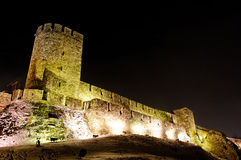 Kalemegdan fortress tower at night Stock Photo