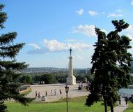 Kalemegdan Fortress and Victor Monument, Belgrade, Serbia stock photo